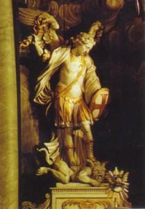 Een strijdende Michaël verslaat het kwaad